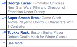 Facebook Right Sidebar Trending Contents Grid